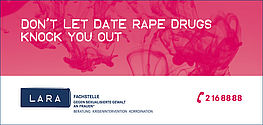 Don't let date rape drugs knock you out